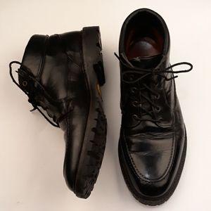 ALLEN EDMONDS Cascade Black Leather Sz 9 E Boots